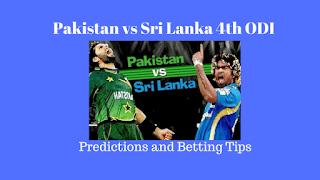 Pakistan vs Sri Lanka 4th ODI Predictions and Betting Tips for Today Match