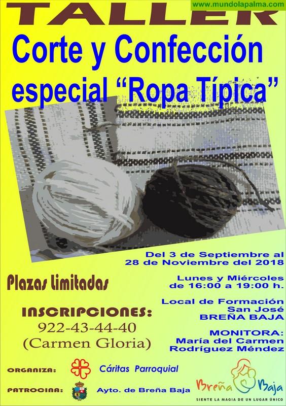 CÁRITAS BREÑA BAJA: inscripciones Taller Ropa Típica