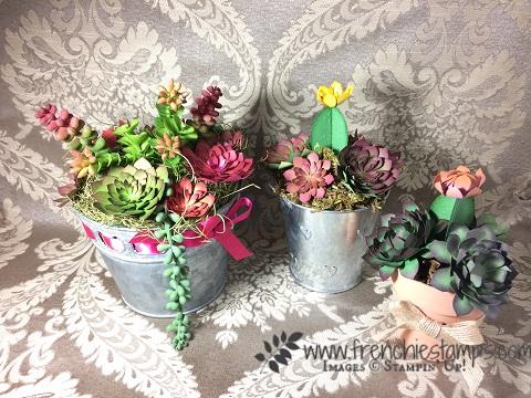 Succulent Framelits, Stampin'Up! Paper Succulent