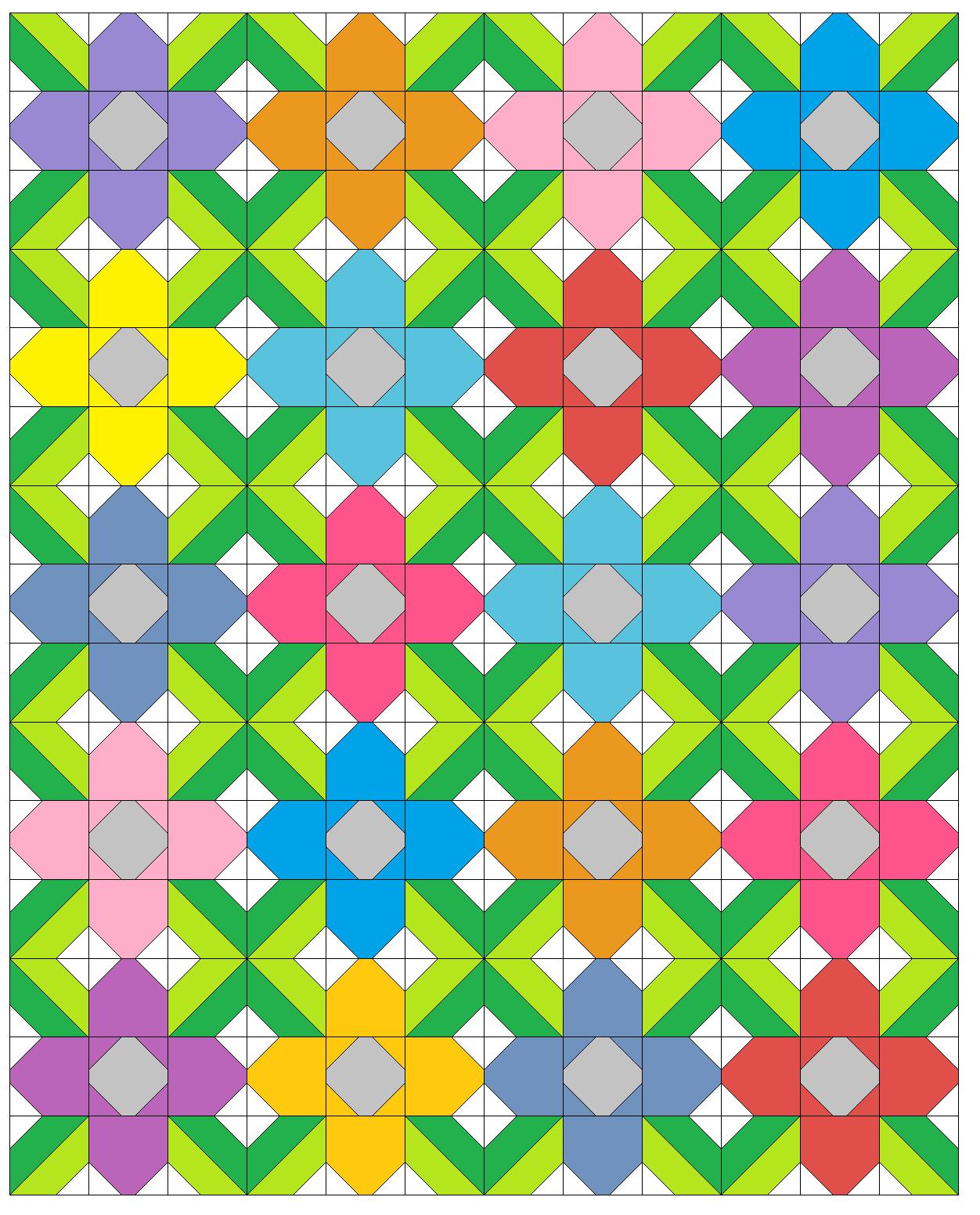 Sew Fresh Quilts: Pretty Posy FREE Quilt Block Tutorial