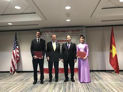 Lễ ký kết diễn ra trong khuôn khổ chuyến thăm chính thức của Thủ tướng Nguyễn Xuân Phúc đến Mỹ