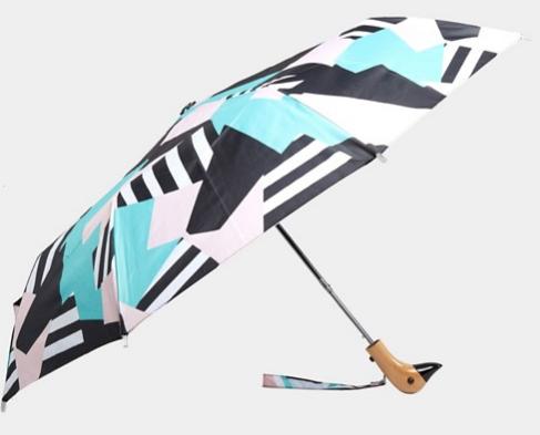 retro pattern duck handle umbrella