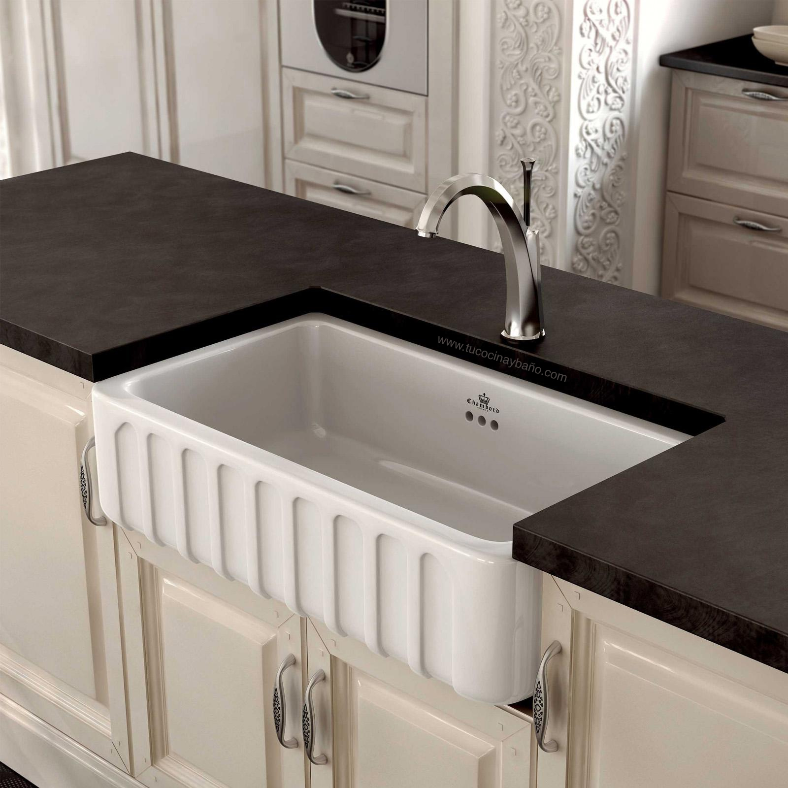 Fregadero ceramico luis segundo tu cocina y ba o for Fregadero precio
