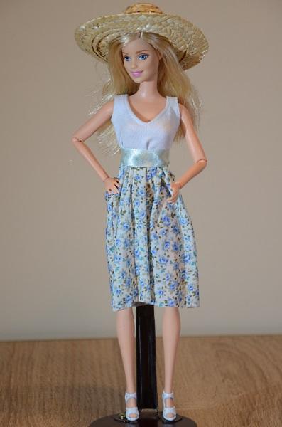 Spring dress for Barbie doll.