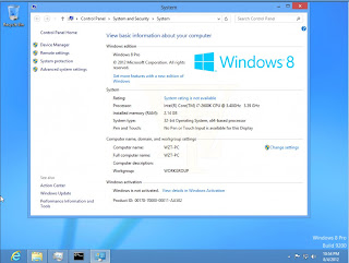 Windows 8 pro with media center build 9200
