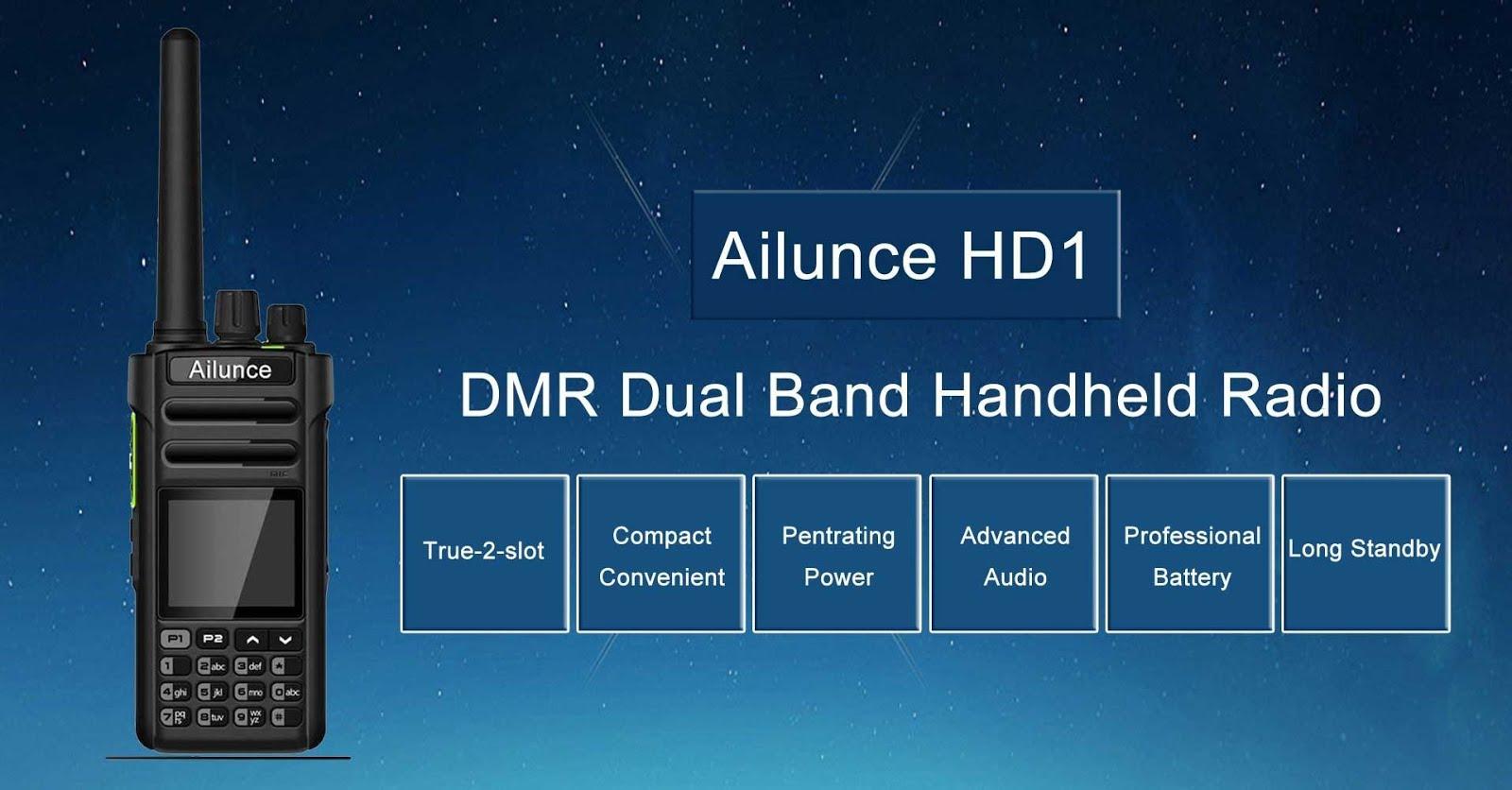 Radiosification: Dual band DMR radios: Ailunce HD1 and TYT MD-2017