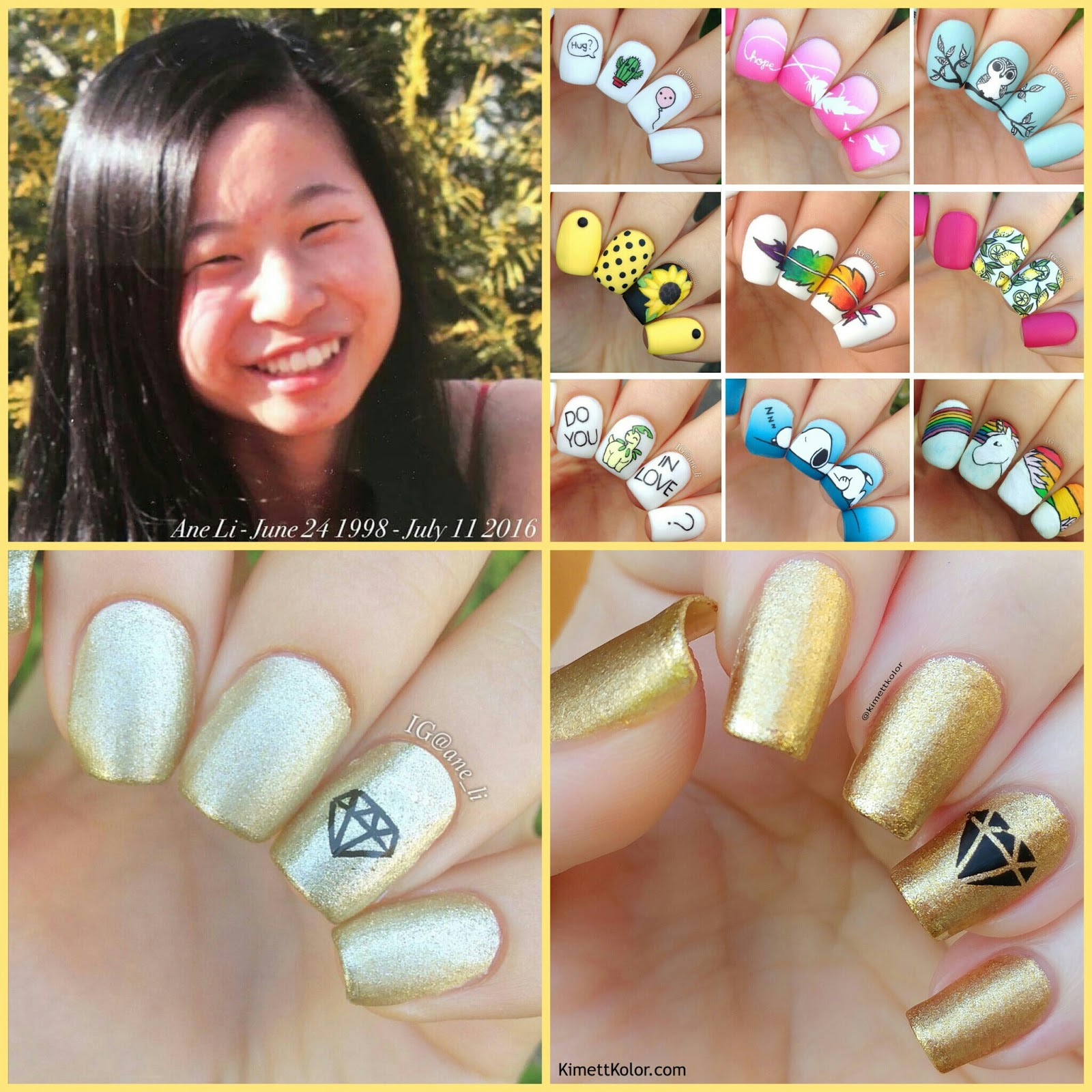 KimettKolor Nail Art - Ane Li Recreation