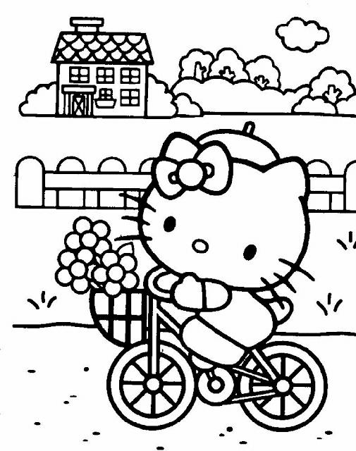 Gambar Mewarnai Hello Kitty - 7