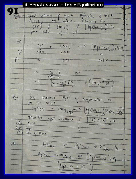 ionic equilibrium class question11