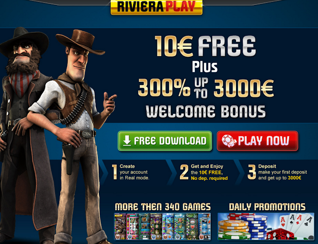 Riviera Play Casino | Welcome No Deposit and Match Bonuses