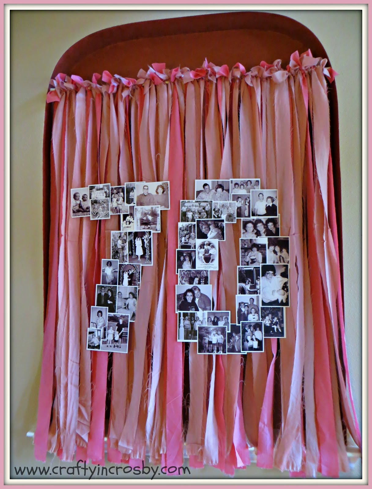 70th Birthday Photo Collage Happy Party Decorations