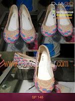 Sepatu rajut Motif bata hak 5 cm grosir