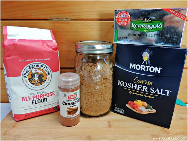 Ingredientes del Bizcocho de Manzana con Especias