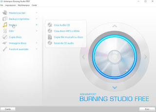 Programma Ashampoo Burning Studio Free