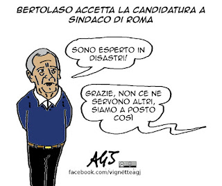 bertolaso, roma, sindaco, vignetta satira