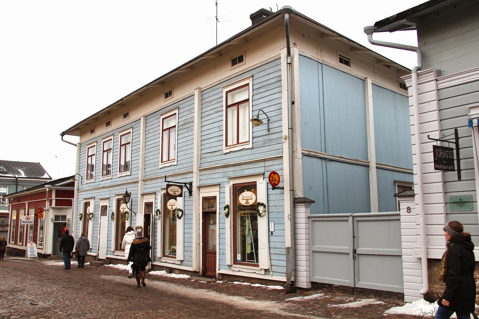 Old Town Shopping in Porvoo, Finland