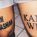 MPNAIJA GIST:Loyal fan gets Kim Kardashian and Kanye West tattoos on his legs (Photos)