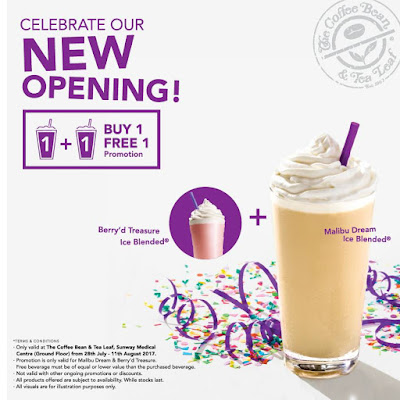 The Coffee Bean & Tea Leaf Malaysia Buy 1 Free 1 Promo