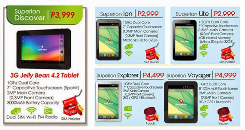 List Mobile Tablet Cherry Price