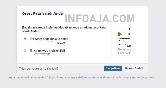 Reset Kata Sandi Facebook