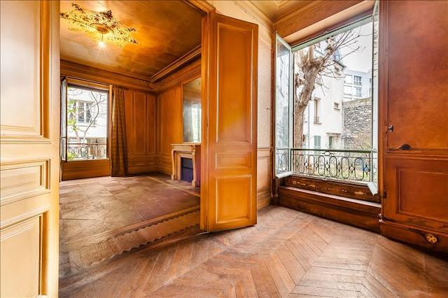 Herringbone floors in Paris fixer upper home for sale seen on Hello Lovely Studio