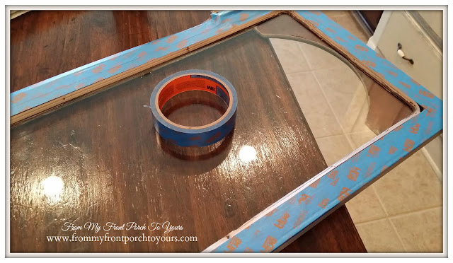 Faux Antique Mirror Tutorial-Faux Vintage Mirror Effect- From My Front Porch To Yours