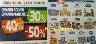 Logo Coop Alleanza 3.0 : grandi sconti del -30%, -40% e - 50% su Grandi Marche
