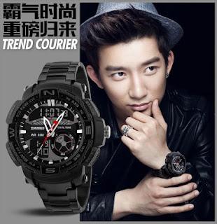 Jam Tangan Pria Dual Time,Jam Tangan Pria,Harga jam tangan pria