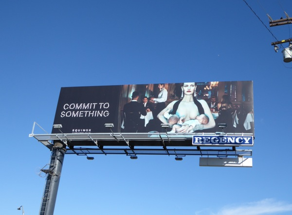 Commit to something Equinox breastfeeding twins billboard