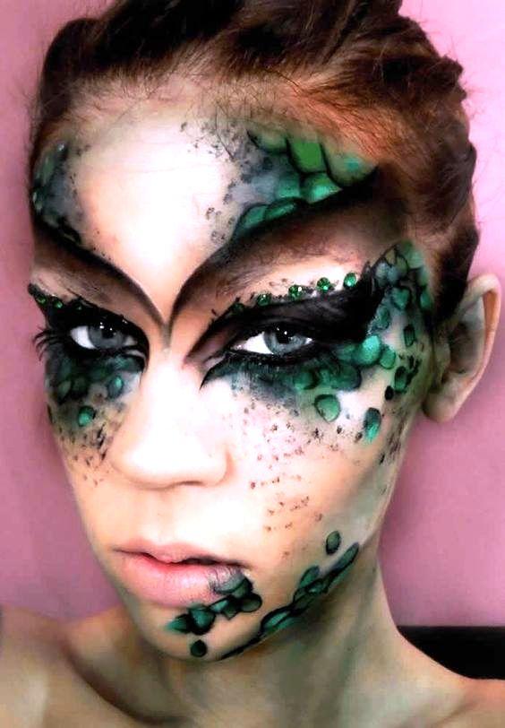 mermaid halloween makeup poison ivy