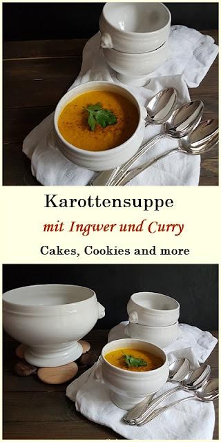 Rezept für vegane Karottensuppe mit Ingwer und Curry