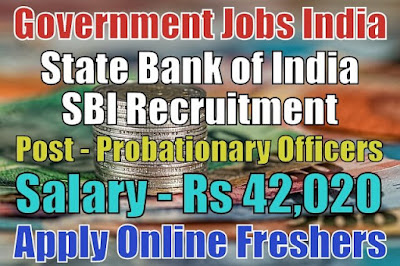 State Bank of India SBI Recruitment 2018