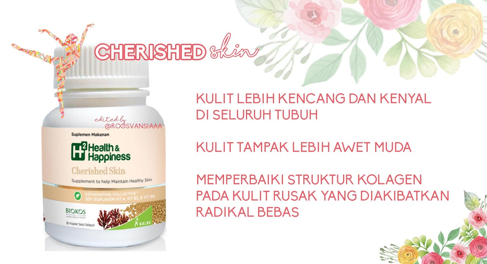 H2 Health Happiness Cherished Skin Bottle Isi 30 Tablet Daftar Krill Oil