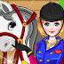 لعبة تلبيس بنت وحصانها