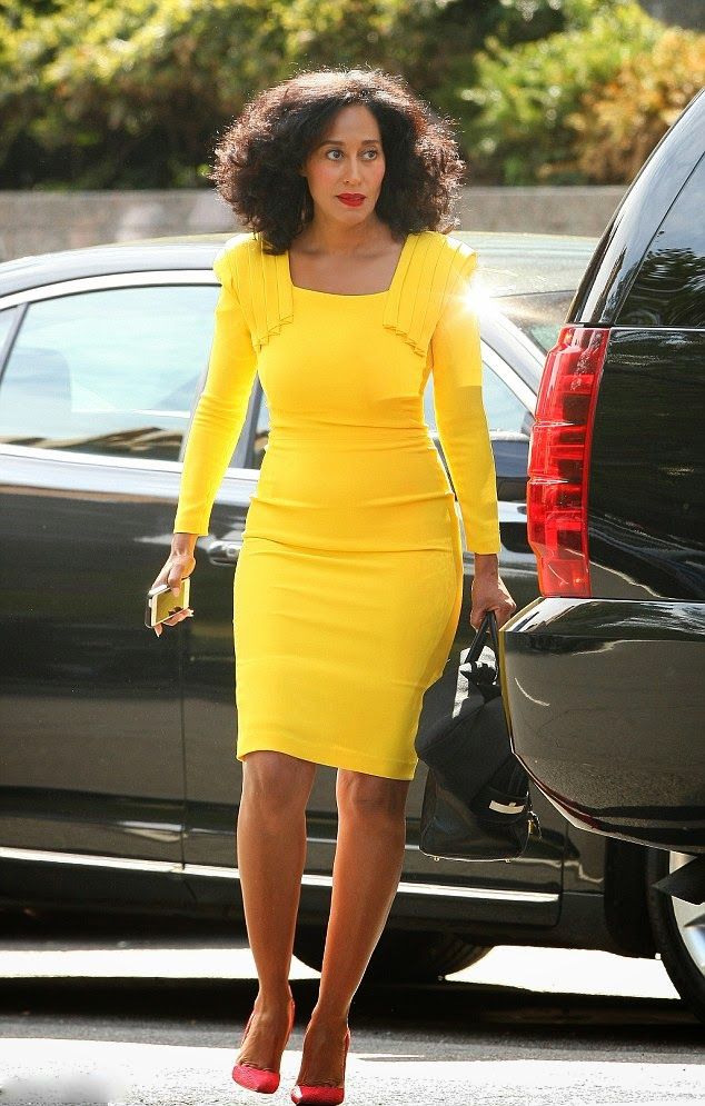 Tracee Ellis Ross Works A Sexy Yellow Dress As She And Co Star