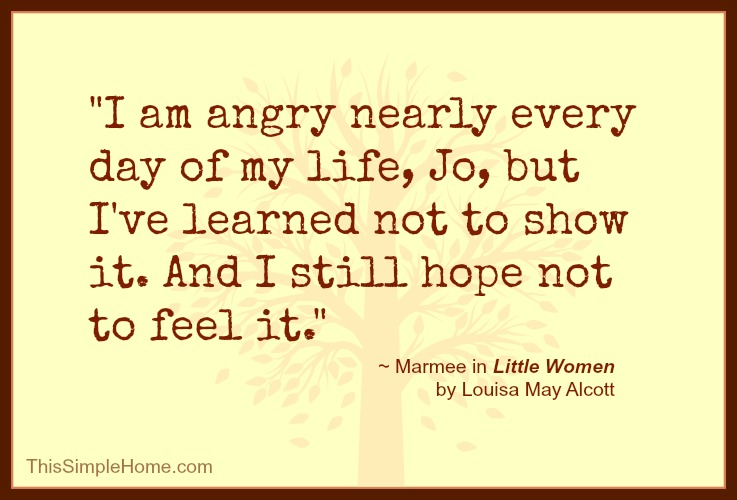 This Simple Home: Little Women Marmee Quote