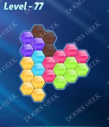 Block! Hexa Puzzle [Intermediate] Level 77 Solution, Cheats, Walkthrough for android, iphone, ipad, ipod