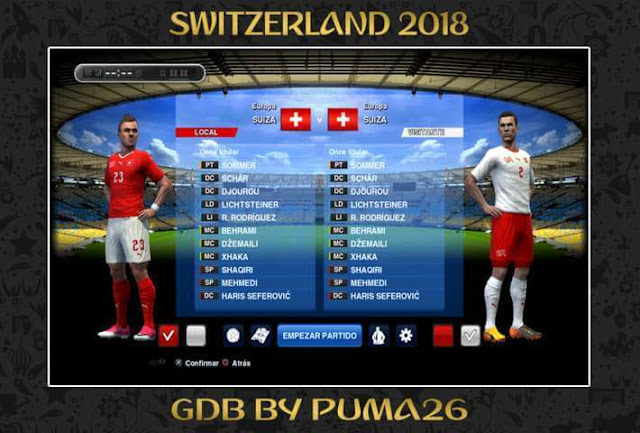 Switzerland 2018 Kit PES 2013