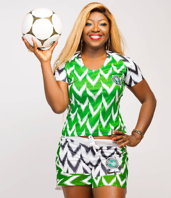 Kiibati redesigned Nigerian World cup Jersey by Fashion Guru Tiannah's empire