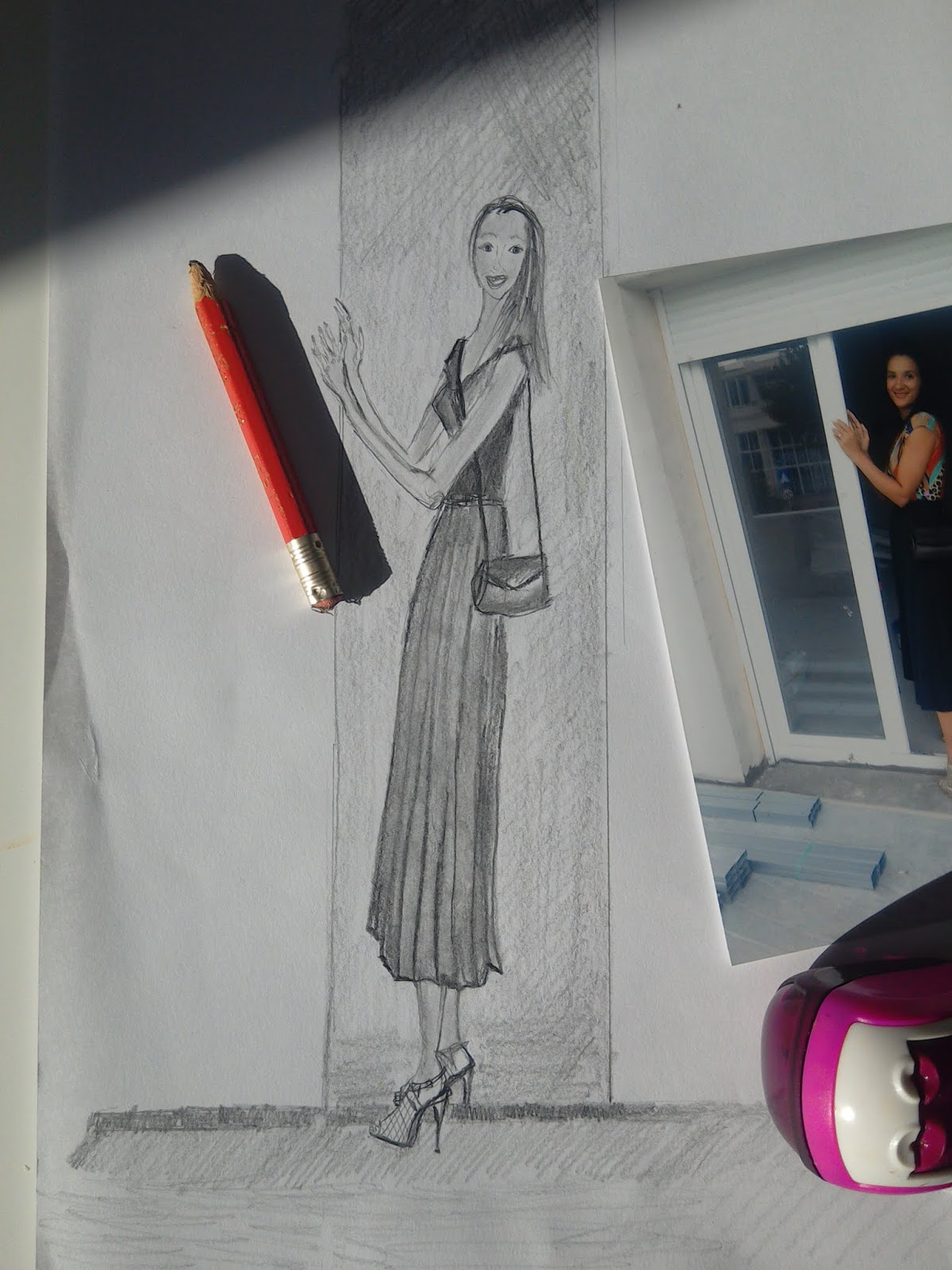 Fashion Illustrations in Pencil: My Answer To Drawing With or Without a Reference Dilemma.