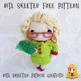 PATRON GRATIS RITA SKEETER | HARRY POTTER AMIGURUMI 39459