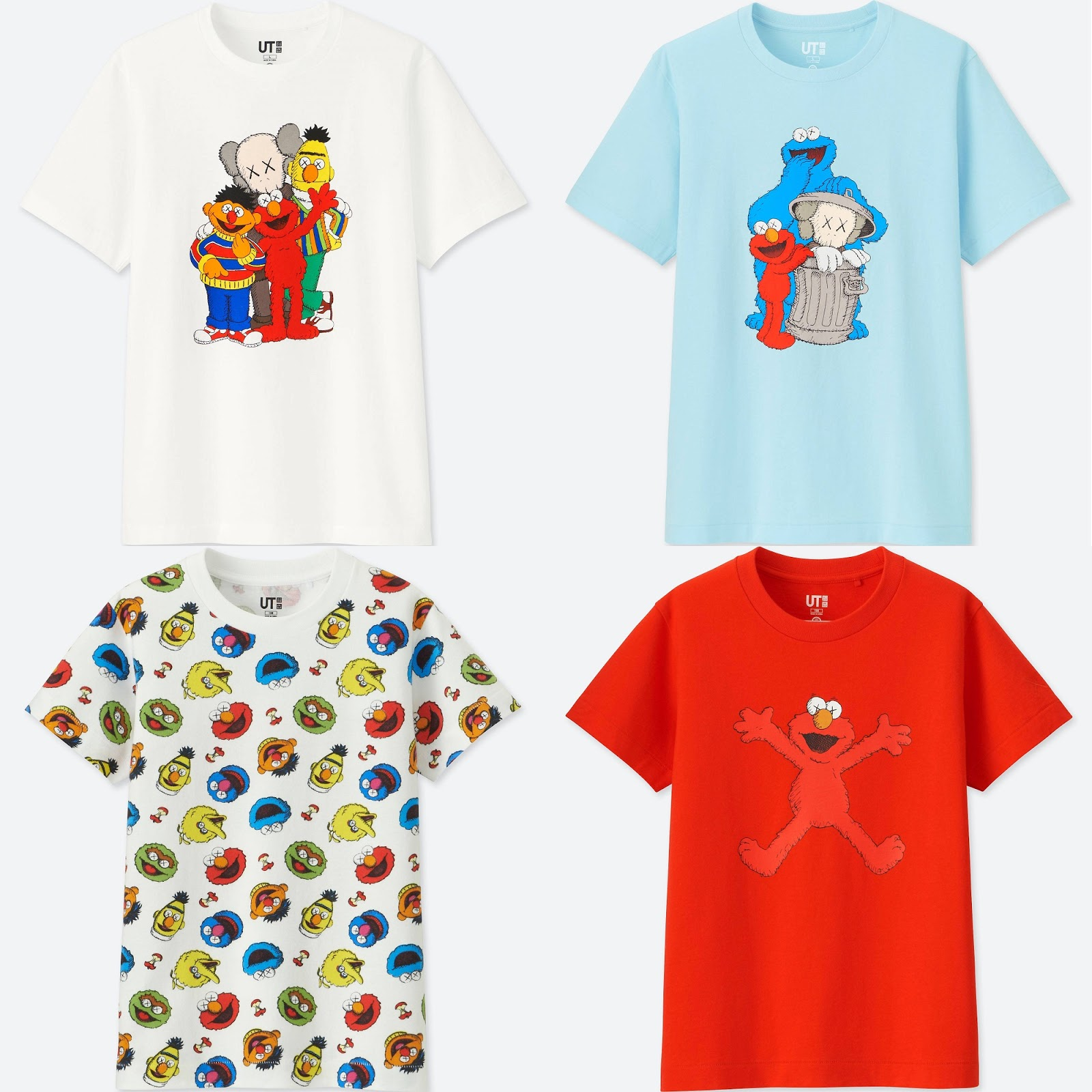 50a3958b The Blot Says...: KAWS x Sesame Street T-Shirt Collection by Uniqlo
