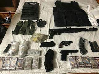 ضبط اسلحة وذخائر مع عنصر ارهابى ببنى سويف