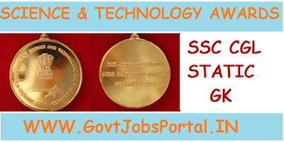 NATIONAL AWARDS AND HONOURS IN INDIA FOR SCIENCE & TECHNOLOGY