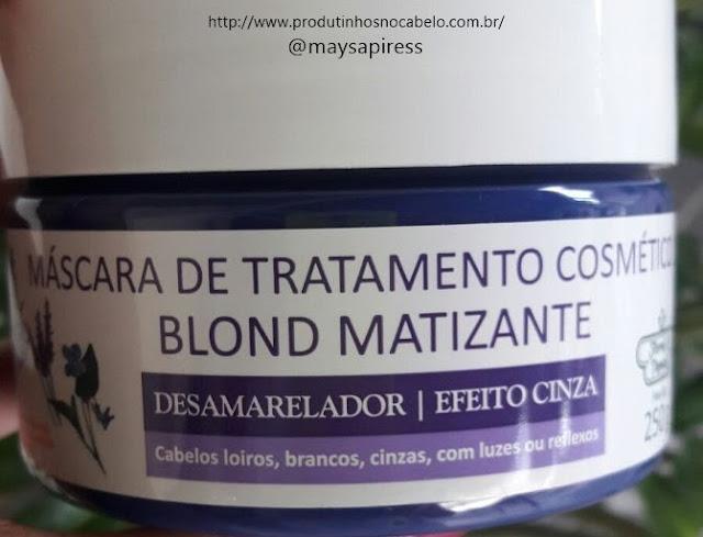 Blond Matizante Flores e Vegetais