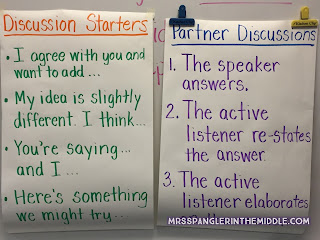 Middle School Classroom Group Work Anchor Charts Create Learning with Accountable Talk.  Perfect Posters for Language Arts or Any Subject Area!  #teaching  #anchorcharts  #groupwork