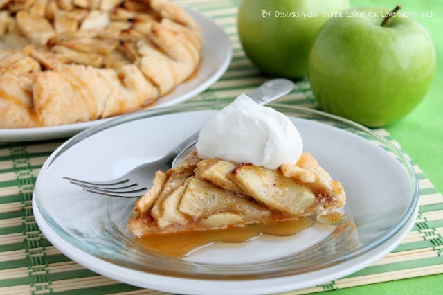 Caramel Apple Crostata combines the best flavors of Fall in this rustic-style dessert!
