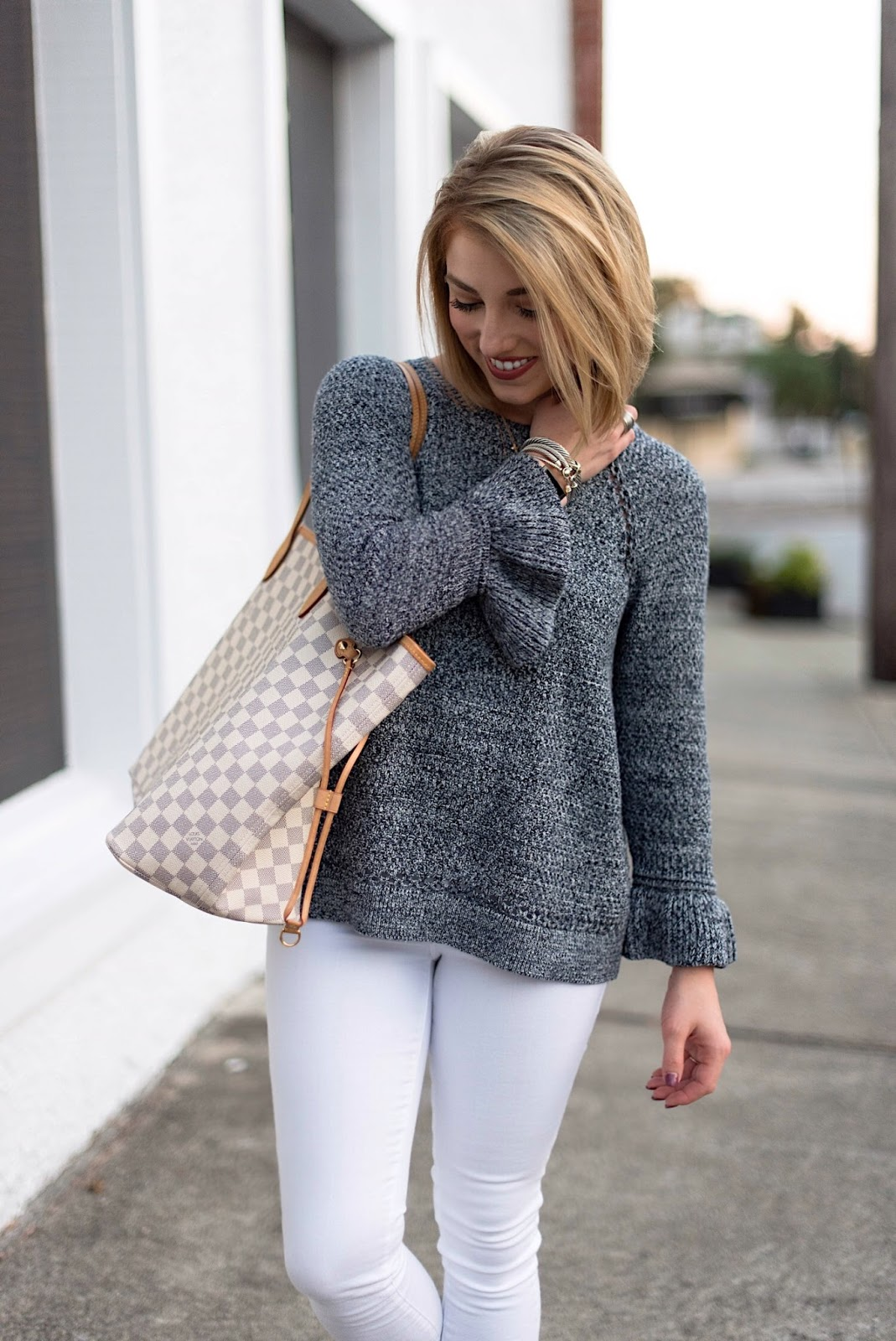Ruffle Cuff Sweater - Something Delightful Blog