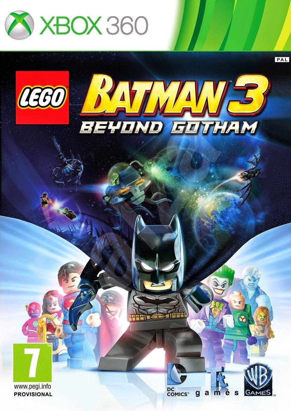 LEGO Batman 3 Beyond Gotham XBOX 360 Cover Caratula
