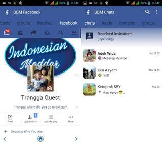 bbm modifikasi tema facebook terbaru